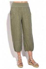 Pantaloni drepti Le Jardin du Lin E18-47 Kaki