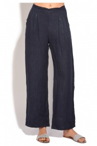 Pantaloni drepti Le Jardin du Lin E18-50 Bleumarin