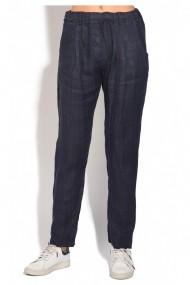 Pantaloni slim Le Jardin du Lin E18-51 Bleumarin