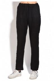Pantaloni slim Le Jardin du Lin E18-51 Negru