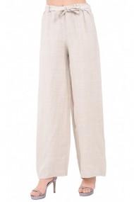 Pantaloni drepti Le Jardin du Lin E19-10 Bej