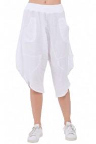 Pantaloni largi Le Jardin du Lin E19-17 Alb