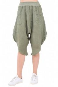 Pantaloni largi Le Jardin du Lin E19-17 Kaki