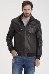 Jacheta din piele IPARELDE MAS-E5543 Brown Maro
