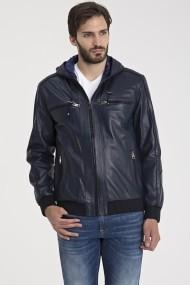 Jacheta din piele IPARELDE MAS-E5543 Dark Blue Bleumarin