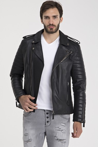 Jacheta din piele IPARELDE MAS-E6735 Black Negru