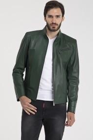 Jacheta din piele IPARELDE MAS-E88 Green Verde