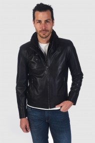 Jacheta din piele IPARELDE MAS-E88K Black Negru