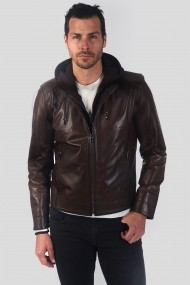Jacheta din piele IPARELDE MAS-E88K Chestnut Maro