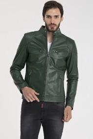 Jacheta din piele IPARELDE MAS-EBS10 Green Verde