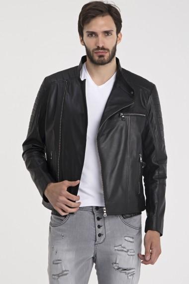 Jacheta din piele IPARELDE MAS-ES110 Black Negru