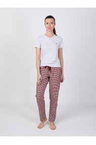 Pantaloni de pijama FELIX HARDY FE296122 Bordo