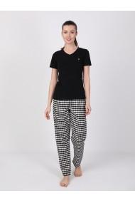 Pantaloni de pijama FELIX HARDY FE458074 Negru
