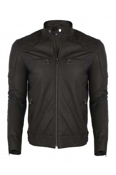 Jacheta din piele FELIX HARDY FE7106 Maro