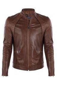 Jacheta din piele FELIX HARDY FE7596199 Maro
