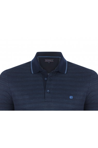 Tricou Polo FELIX HARDY FE826384 Bleumarin