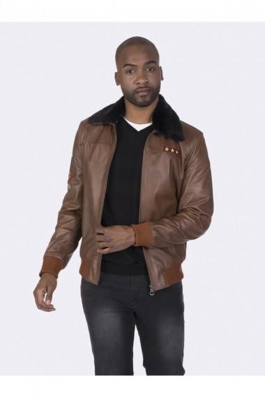 Jacheta din piele Giorgio di Mare GI1039366 Maro