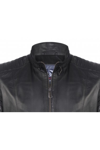 Jacheta din piele GIORGIO DI MARE GI2393863 Negru
