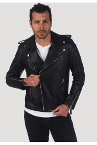 Jacheta din piele GIORGIO DI MARE GI256863 Negru