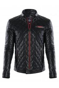 Jacheta din piele GIORGIO DI MARE GI3082205 Negru