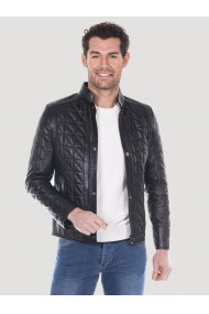 Jacheta din piele GIORGIO DI MARE GI3084963 Negru
