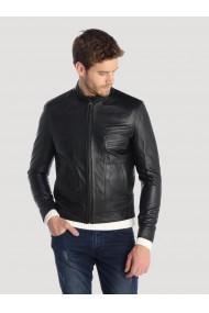 Jacheta din piele GIORGIO DI MARE GI3535415 Negru
