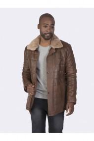 Jacheta din piele Giorgio di Mare GI4077602 Maro