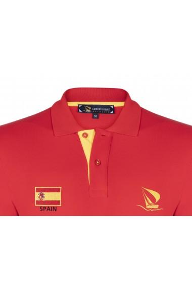 Tricou Polo cu steagul Spaniei GIORGIO DI MARE GI415081 Rosu