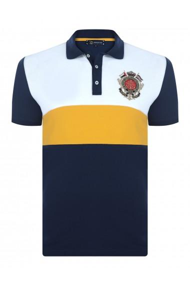 Tricou Polo GIORGIO DI MARE GI438967 Bleumarin