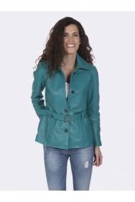 Jacheta din piele Giorgio di Mare GI4713425 Turcoaz