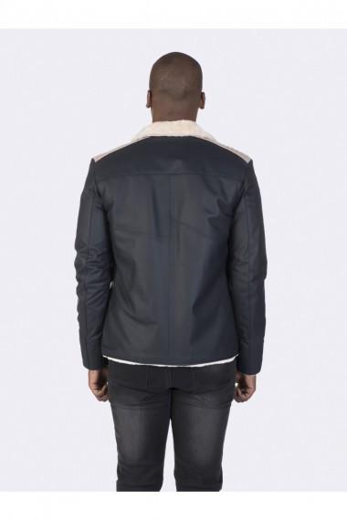Jacheta din piele Giorgio di Mare GI7139611 Bleumarin