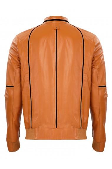 Jacheta din piele GIORGIO DI MARE GI7266248 Maro