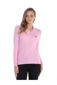 Bluza Polo cu maneca lunga GIORGIO DI MARE GI7432476 Roz