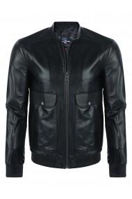 Jacheta din piele GIORGIO DI MARE GI7597853 Negru
