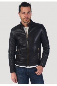 Jacheta din piele GIORGIO DI MARE GI7720359 Negru