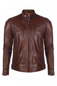 Jacheta din piele GIORGIO DI MARE GI8419905 Maro