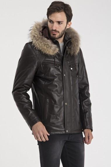 Jacheta din piele Giorgio di Mare GI8478780 Maro