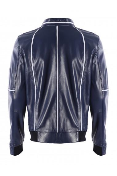 Jacheta din piele GIORGIO DI MARE GI8871982 Albastru