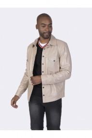 Jacheta din piele Giorgio di Mare GI9035137 Bej