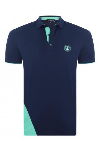 Tricou Polo GIORGIO DI MARE GI963393 Bleumarin