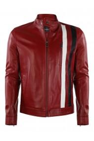 Jacheta din piele GIORGIO DI MARE GI9944954 Rosu