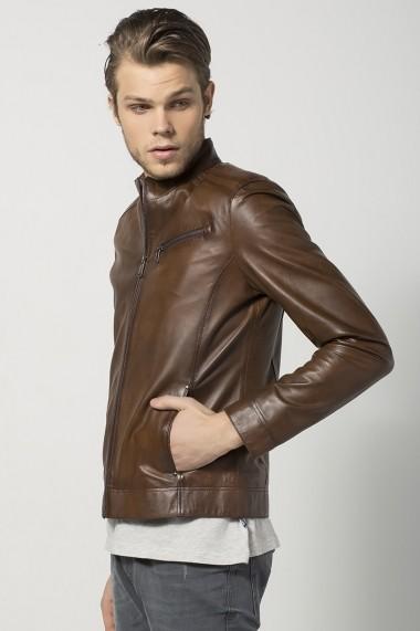 Jacheta din piele Jimmy Sanders JSLJM2008 Maro