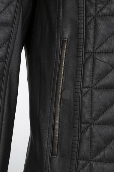 Jacheta din piele Jimmy Sanders JSLJM8181 BLACK Negru
