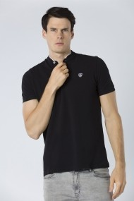 Tricou Polo Jimmy Sanders JSSSTM7039 BLACK Negru