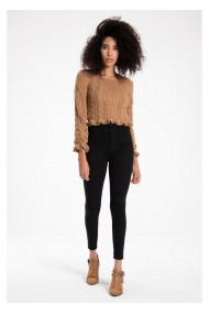 Pantaloni din denim TIFFANY K20041PNT891DTD1-01 Negru