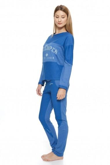 Set bluza si pantaloni lungi Lee Cooper MAS-LCW00165 Albastru - els