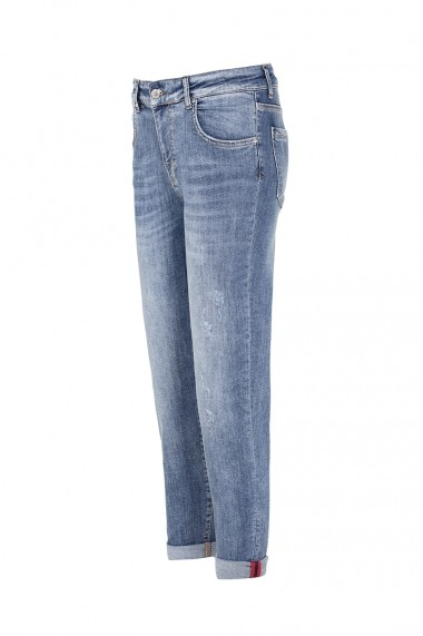 Jeansi drepti Denim Culture LENA-blue Albastru