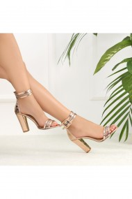 Sandale cu toc DELISIYIM Lovera Auriu