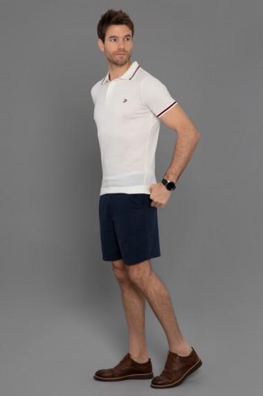 Tricou Polo din tricot Paul Parker PA248542 Ecru