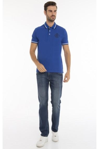 Tricou Polo Paul Parker MAS-Pa4143928-SAXE BLUE Albastru - els